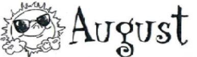 August Family Calendar
